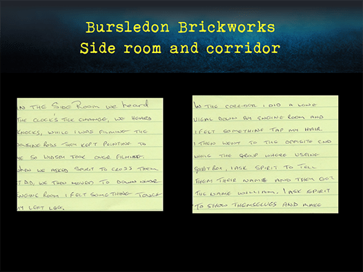 Bursledon Brickworks Incident board
