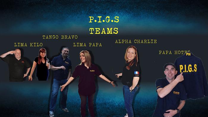 P.I.G.S teams