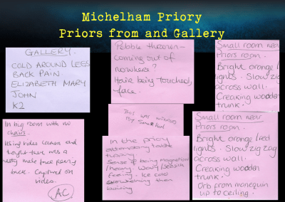 Incident board at Michelham Priory April 2017