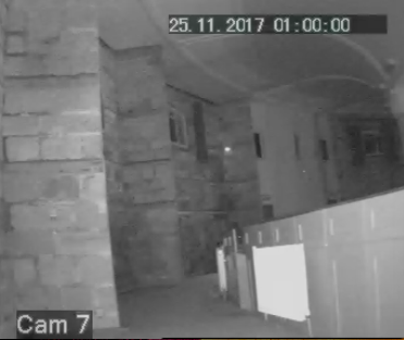 St Mary in the castle CCTV shot